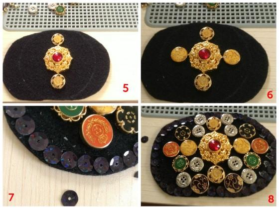 DIY Sequin & Buttons Belt 2