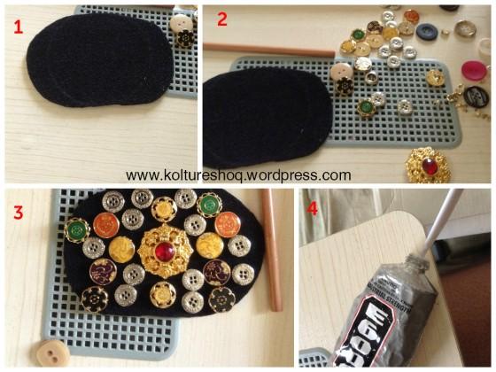 DIY Sequin & Buttons Belt