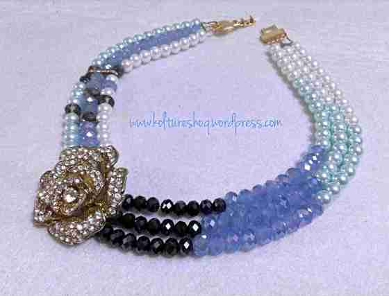 DIY 3 strand beaded necklace