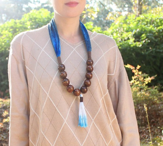DIY anthropologie tassel necklace