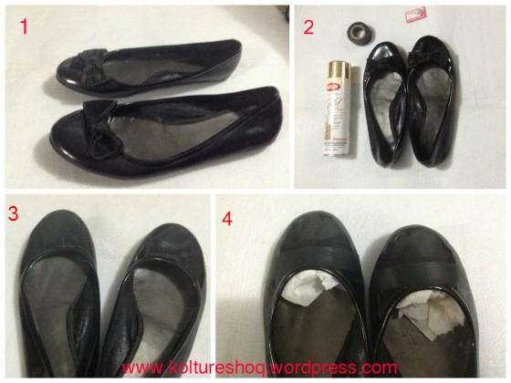 diy spray painted shoe caps koltureshoq. Black Bedroom Furniture Sets. Home Design Ideas