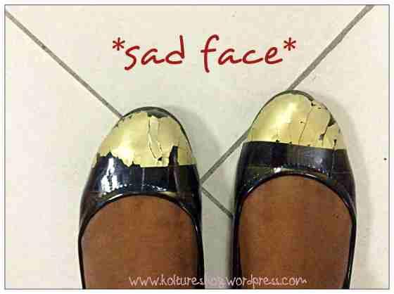 DIY spray painted shoe cap - epic fail