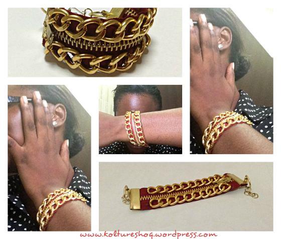 DIY Zipper and Chain Bracelet 7