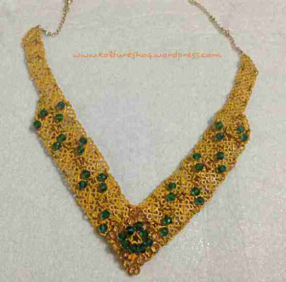 Filigree Bead and Spray Paint Necklace