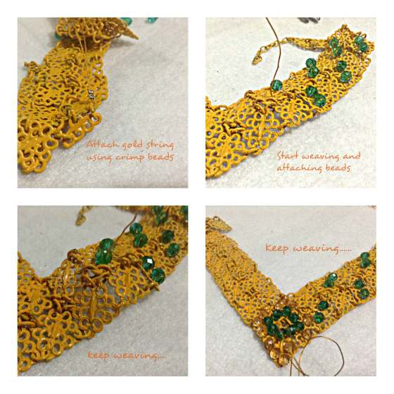 Filigree Beads and Spray Paint Necklace 3