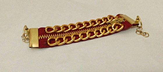 DIY Zipper and Chain Bracelet 2